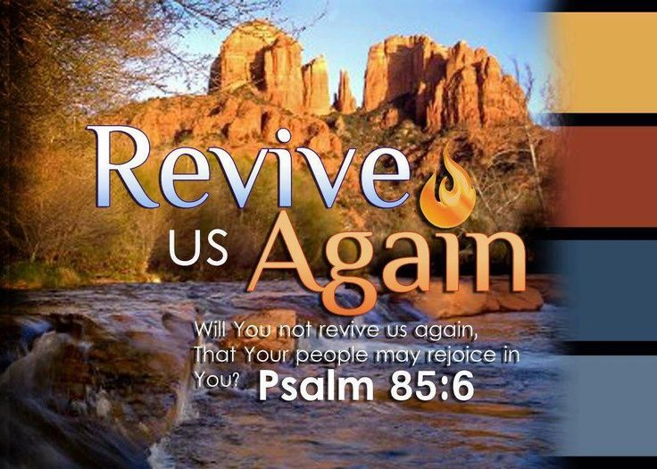 Psalm 85:6 ~ revive us again   Psalms- Be a Woman after