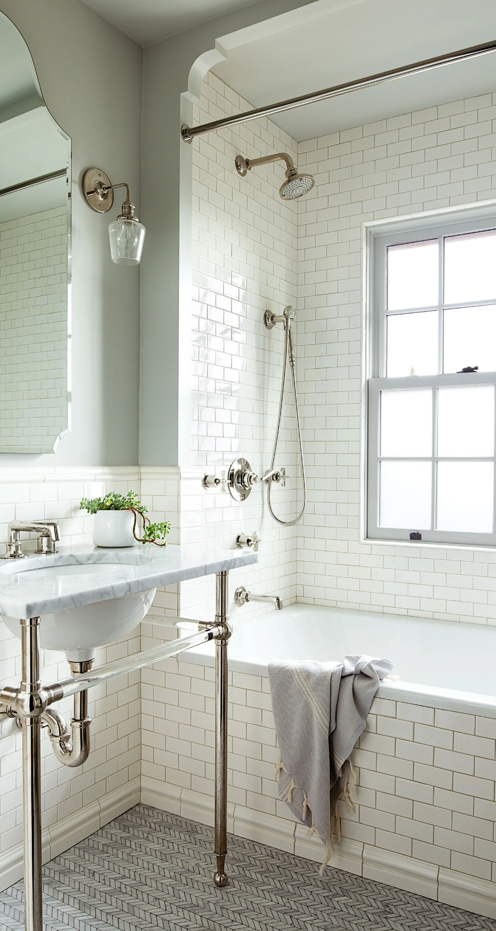 The Average Cost To Add A Bathroom To A Home Piece By Piece White Bathroom Designs Modern Farmhouse Bathroom White Subway Tile Bathroom
