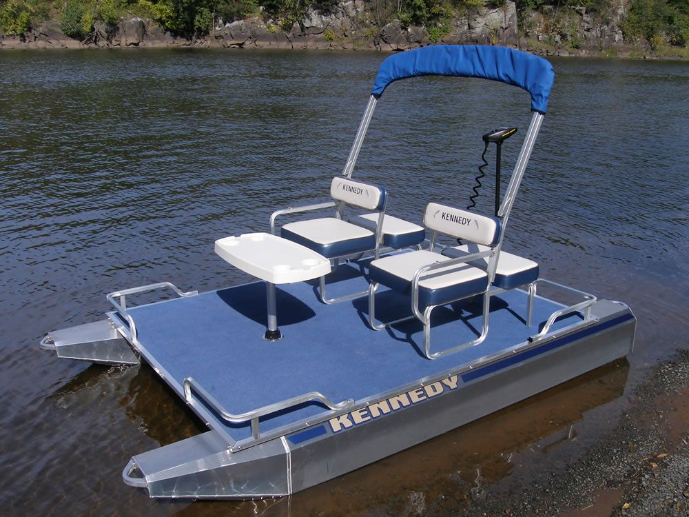 Electric pontoon boats pinterest mini pontoon boats for Little fishing boats
