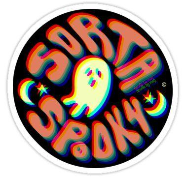 'Sorta Spooky © 3D' Sticker by doodlebymeg