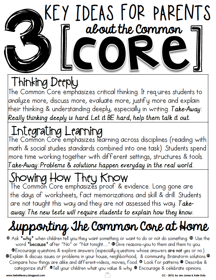 Great resource for parents. Teachers at my school sent this home in ...