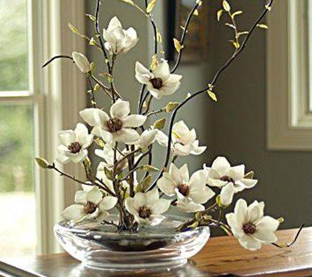 Flower Decor Floral Composition Bouquet White Flowers Living Room Fl Artificial Floral Arrangements Artificial Flower Arrangements Silk Flower Arrangements