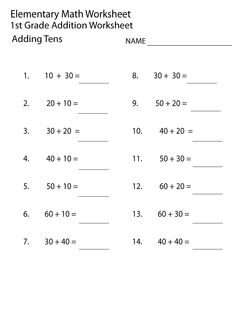 Simple To Complex Elementary Math Worksheets First Grade Math Worksheets Free Math Worksheets Math Worksheets