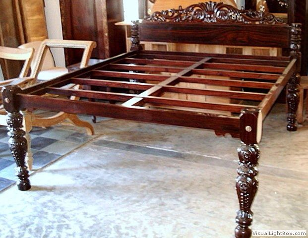 Wooden carving in cot  Wooden South Indian furniture  Pinterest