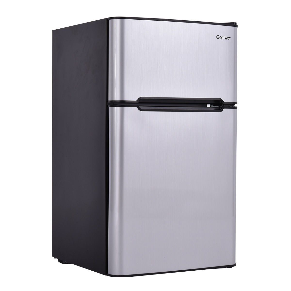 Amazon Com Costway 2 Door Compact Refrigerator 3 2 Cu Ft Unit Small Freezer Cooler Fridge Compact Refrigerator Stainless Steel Refrigerator Best Refrigerator