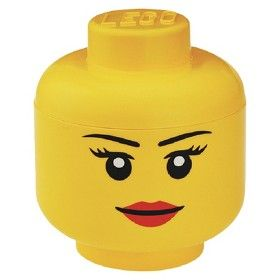 LEGO Small Storage Girl Head Target Mobile Zs room Pinterest