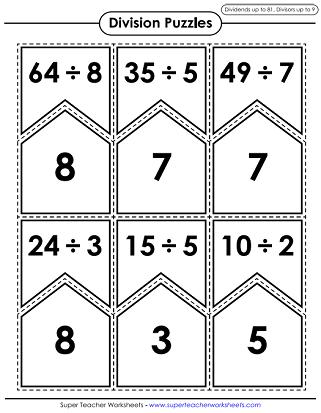 Division Math Puzzle Games Printable Math Games Math Division Math Games
