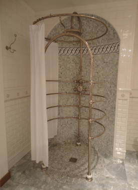 Vintage style shower 1920s glamour bathroom for Bathroom 1920s style