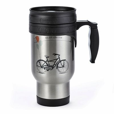 Personalized Vintage Bike Design Stainless Steel Travel Mug