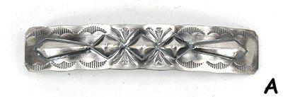 Navajo Sterling Silver repousse antiqued barrettes