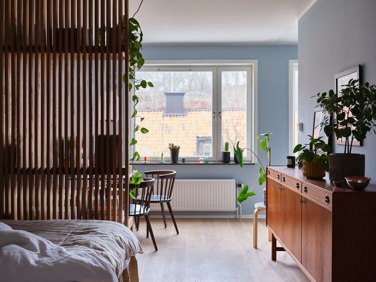 A Tiny But Stylish Blue Studio Apartment — THE NORDROOM in ...
