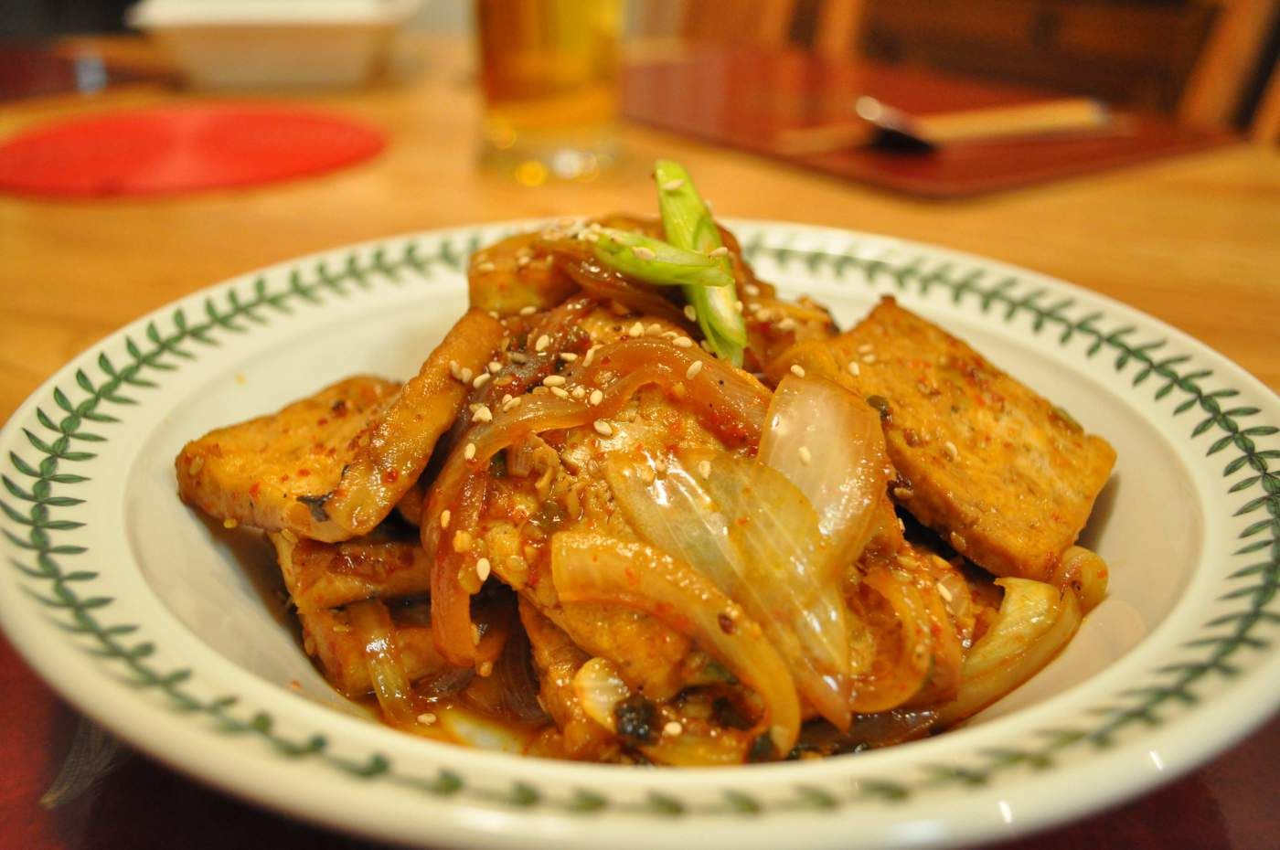 Tofu jorim marinated braised in soy mirin sauce side dish recipes forumfinder Image collections