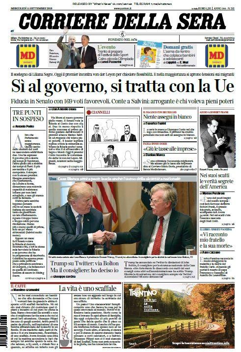 Corriere+della+Sera++11.09.2019 Governo