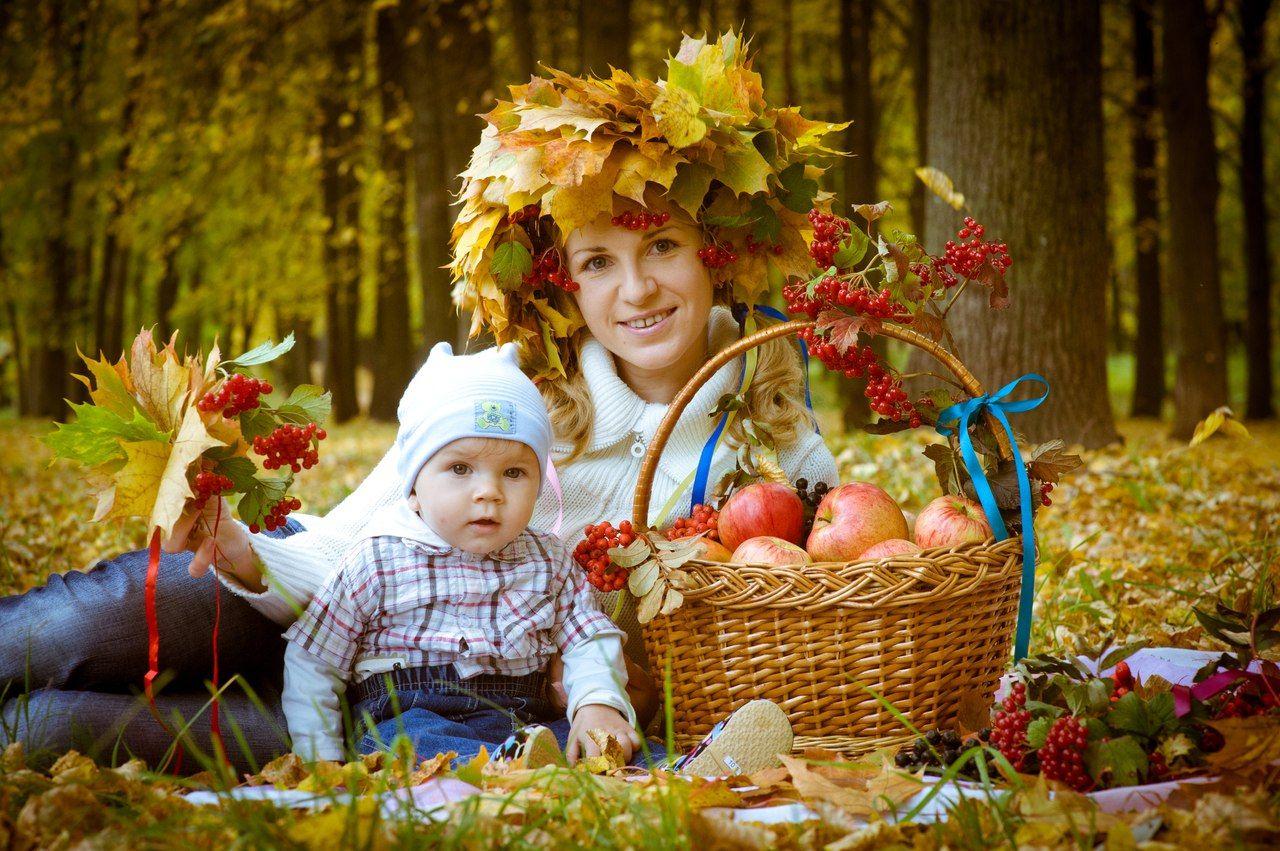 осенние семейные фотографии на природе