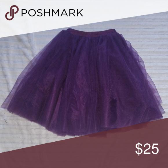 f696dc33a5 I just added this listing on Poshmark: Purple Layered Tulle Skirt.  #shopmycloset #poshmark #fashion #shopping #style #forsale #Dresses & Skirts
