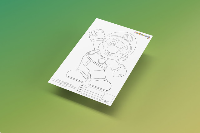 Free Printable Super Mario Coloriage Outline Blank Coloring Page