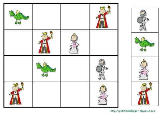 SUDOKU Sant Jordi | Ridders, Prinsessen, Sprookjesboom