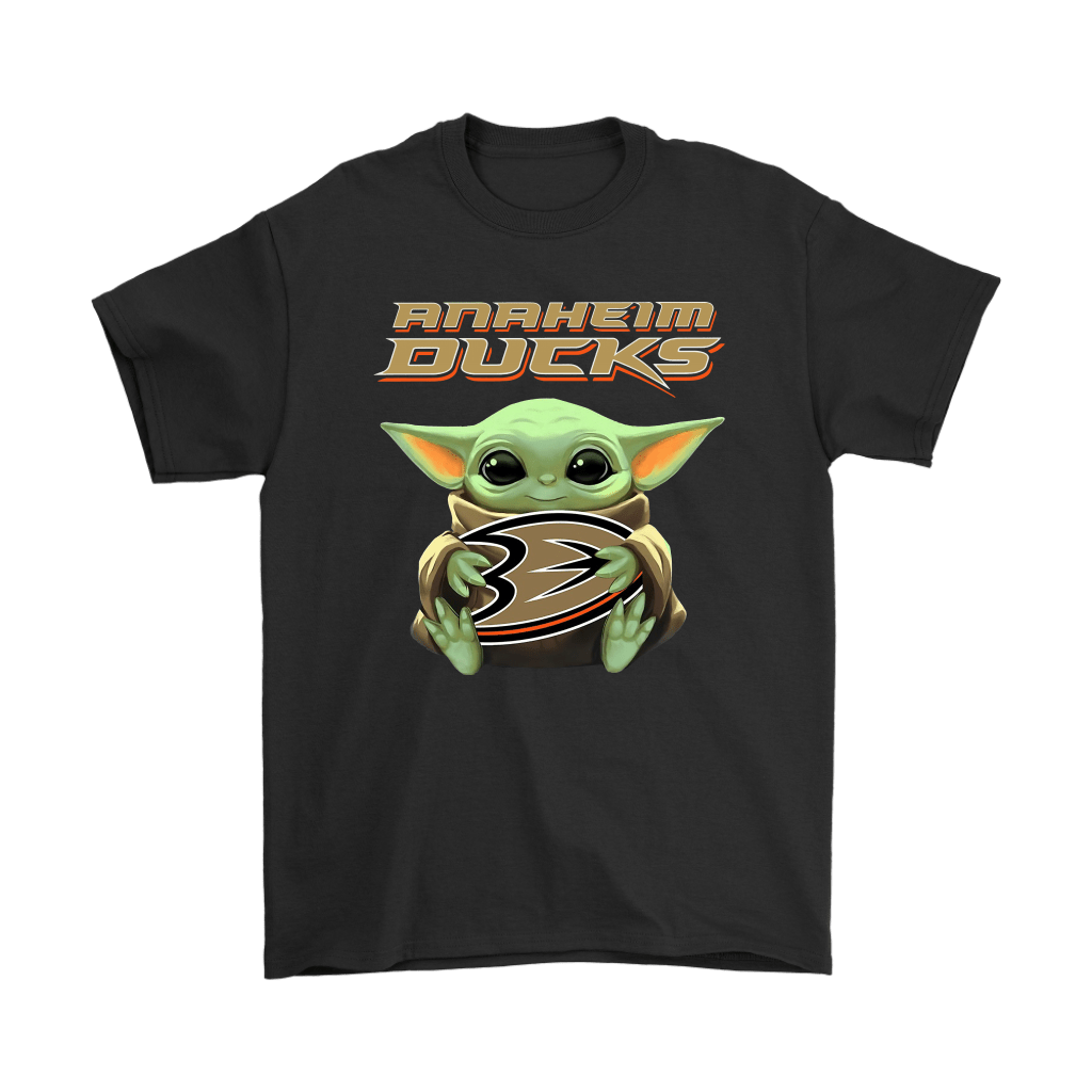 Baby Yoda Hugs The Anaheim Ducks Ice Hockey Shirts - TeexTee Store   Star Wars Theme – Baby Yoda