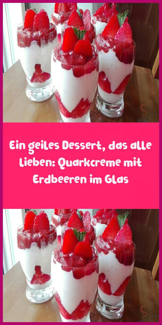 Photo of En flott dessert som alle elsker: ostemasse krem med jordbær i et glass