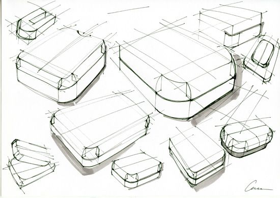 Shapes Sketching Drawing Product Design