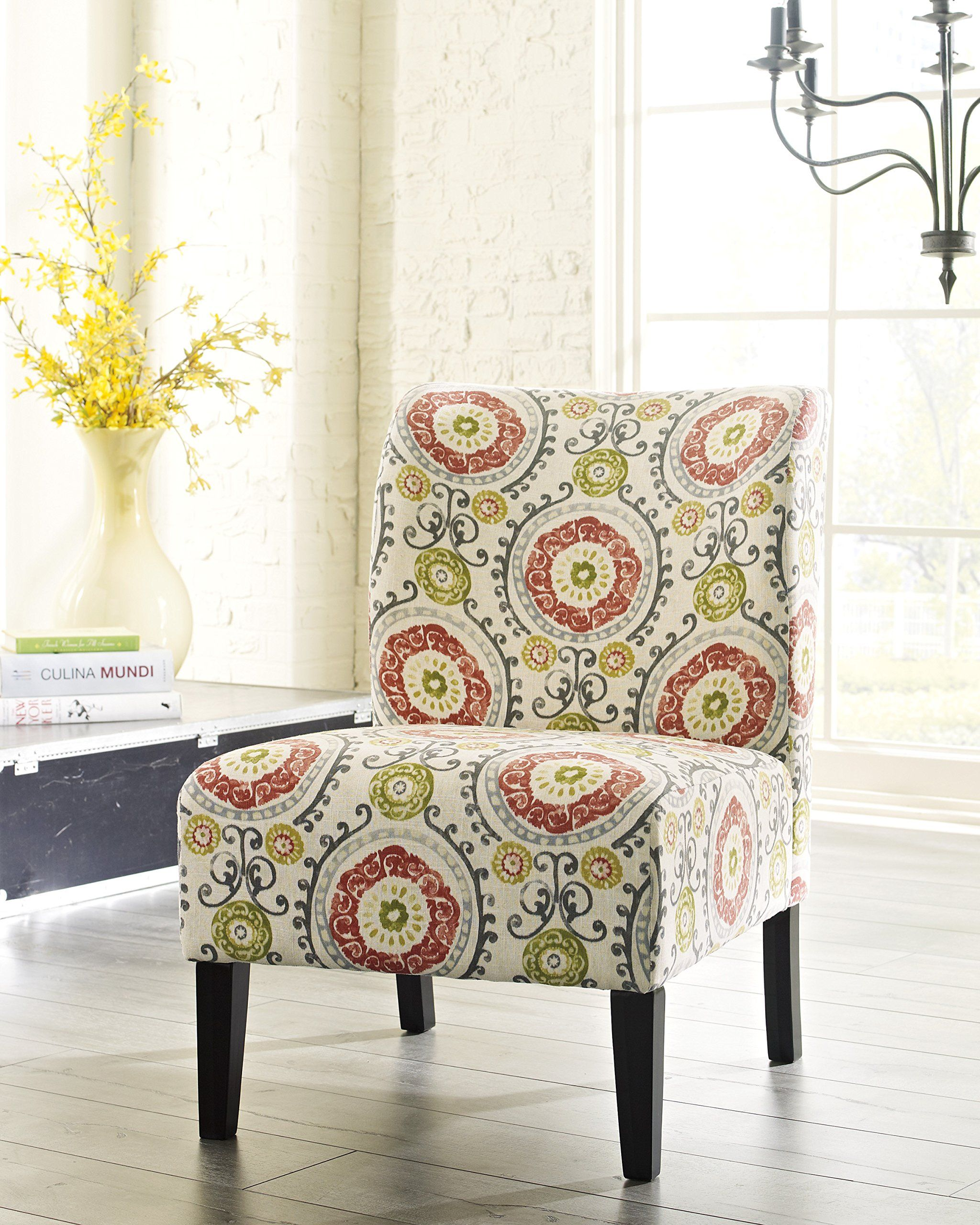 Amazon.com - Honnary Curve Back Fabric Accent Chair, Floral -$129 ...