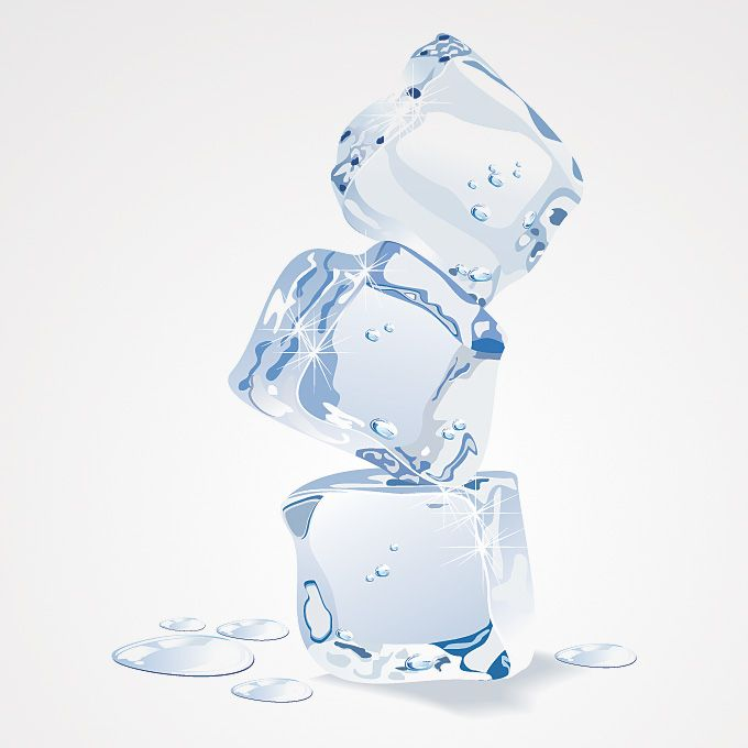 Free ice cube vector graphics. Ice cube pile illustration consist ...