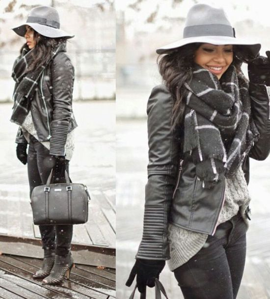 winter gray outfit, Fashionable and casual outfits for winter…