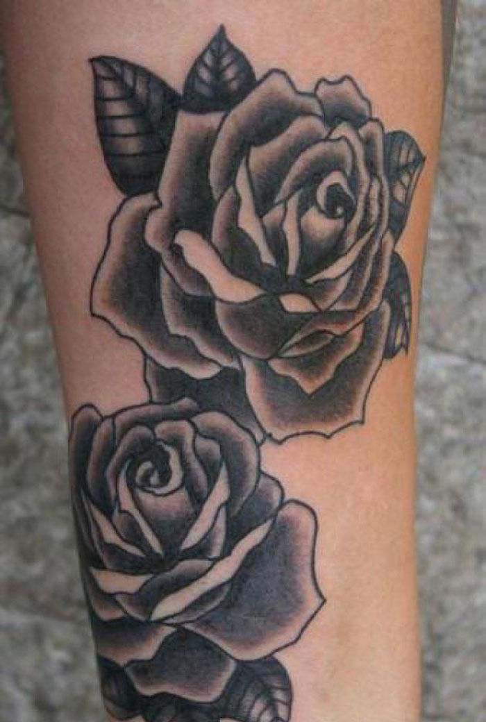 Black And White Rose Tattoos For Women Black And White White