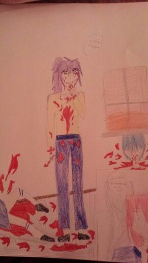 Gakupo being a yandere, Kaito and Meiko are dead, and Luka is terrified
