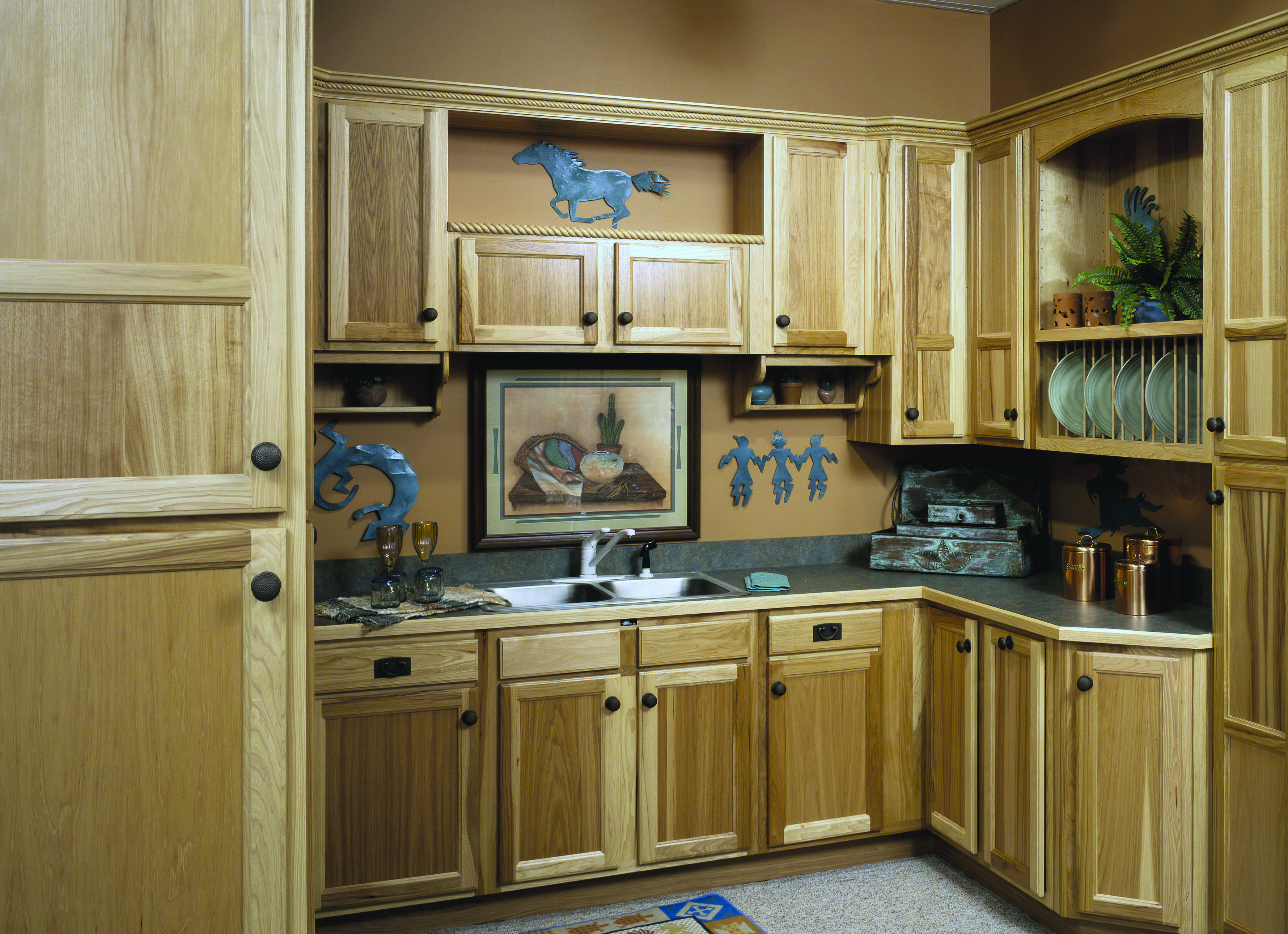 © Haas Cabinet Co  LANCASTER Door Style: Partial Overlay Wood Species: Hickory Finish: Nautral