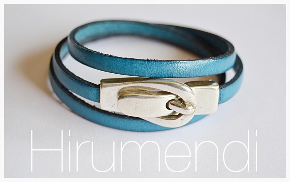 Blue jean leather  https://www.facebook.com/HirumendiBisuteria?ref=hl
