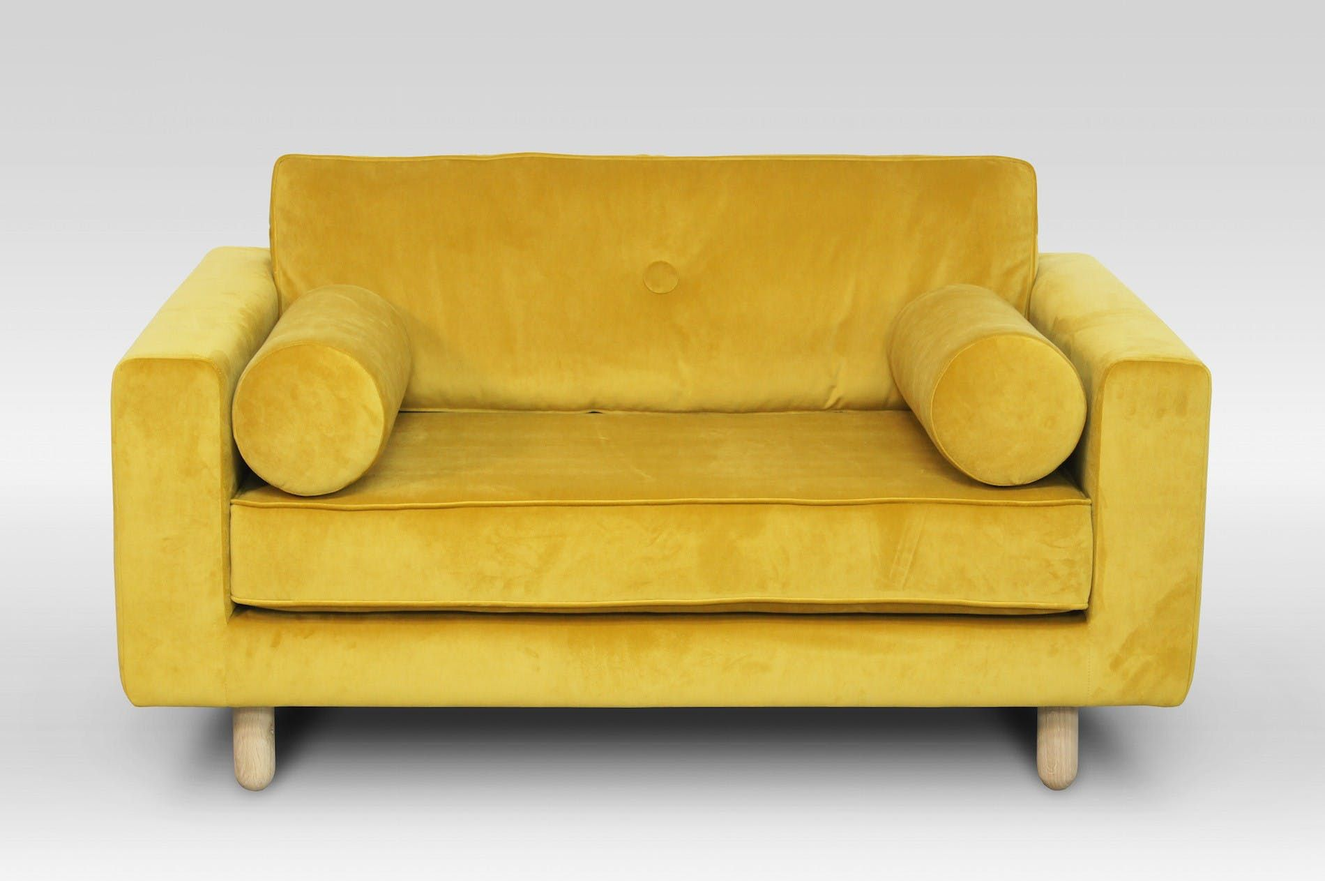 Discover Avenue Yellow Velvet Loveseat By Festamsterdam On Crowdyhouse Unique Design Products 30 Day Returns Buy Velvet Loveseat Love Seat Yellow Loveseat