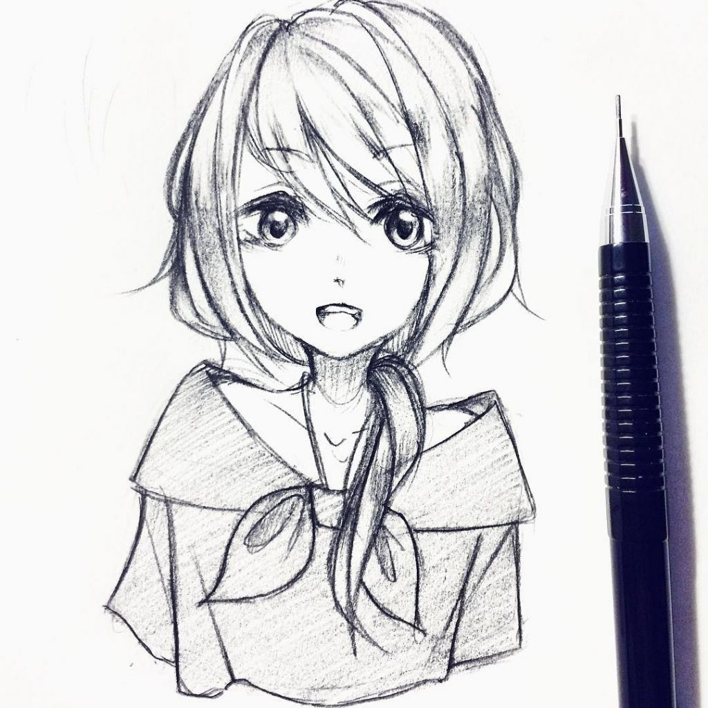 35+ Ideas For Pencil Cute Anime Drawings