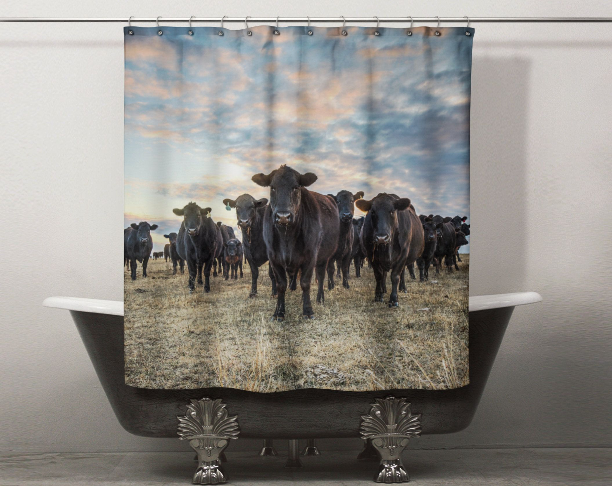 Cow Shower Curtain For Your Western Decor Bathroom Unique Shower
