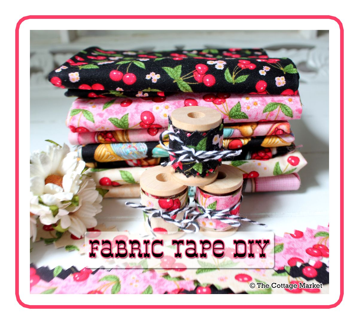 Fabric Tape DIY - The Cottage Market #fabrictape