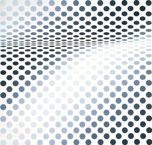 Hesitate, (1964) by Bridget Riley
