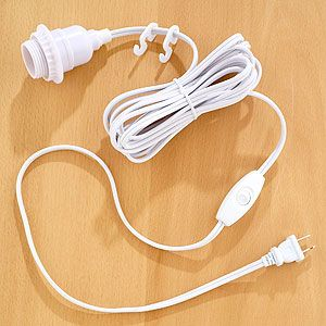 White Electrical Cord Swag Kit World Market Groomswoman