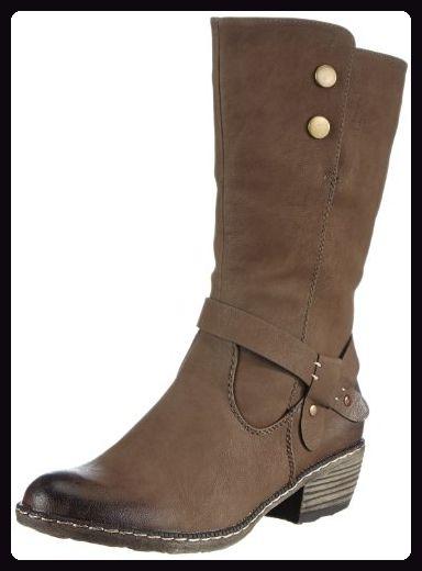 93776 25 Damen Eu Rieker torf Braun Cowboy Stiefel 39 Stiefel dZPPBW