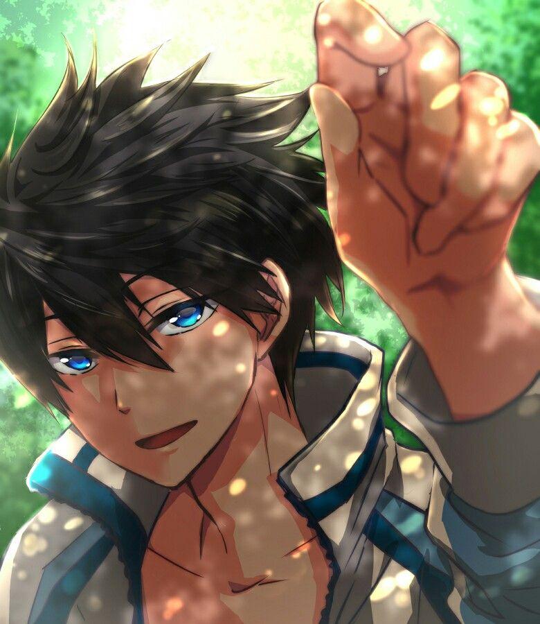 Anime Boy Black Hair Blue Eyes Hoodie Anime Guys Cute Anime Boy Anime Boy Anime Guys
