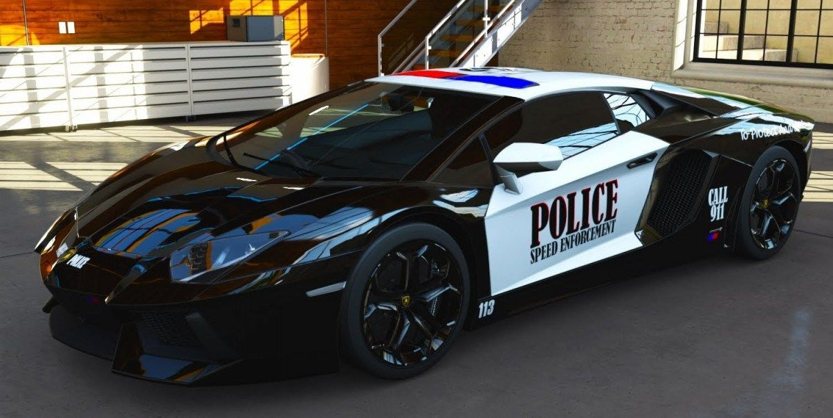 10 Fastest Police Cars In Dubai Police Cars Police Lamborghini Police