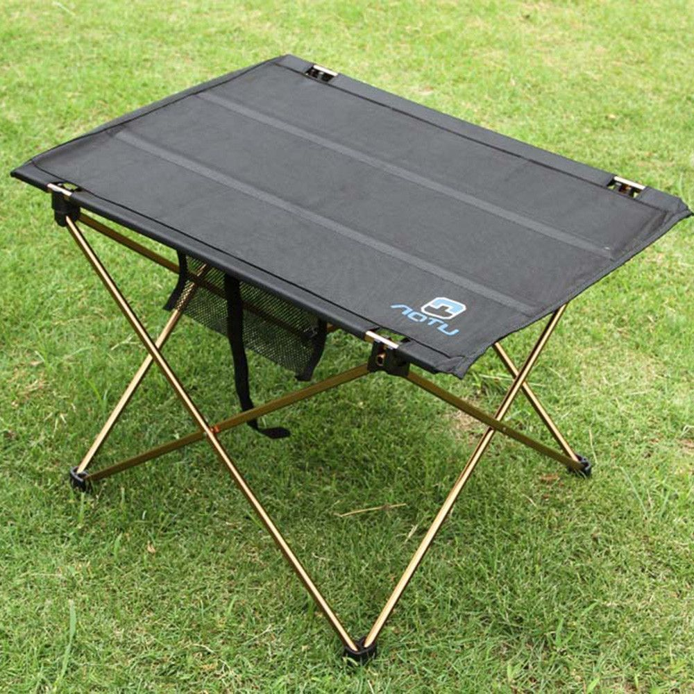 Outdoor Folding Table Camping Aluminium Alloy Picnic Table Waterproof  Ultra Light Durable Folding Table Desk