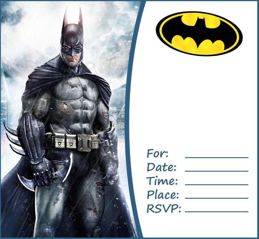 free batman party invitation template