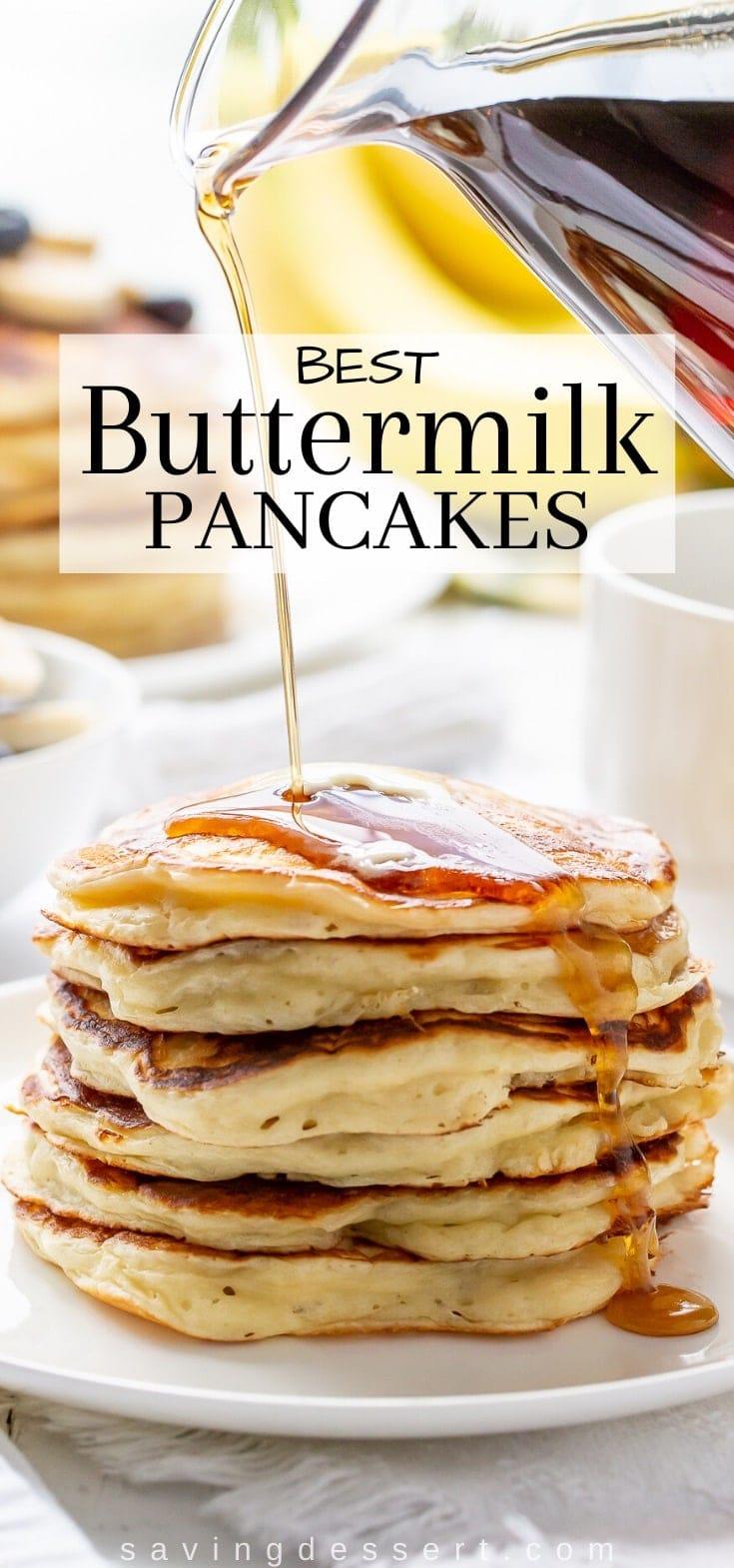 Best Buttermilk Pancakes Recipe In 2020 Buttermilk Pancakes Breakfast Brunch Recipes Recipes