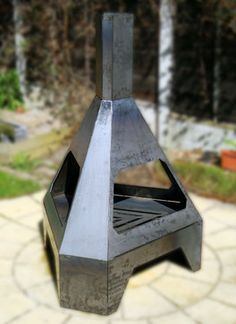 Prism Chiminea The Stands At 1500mm Tall And Makes Excellent Outdoor Log