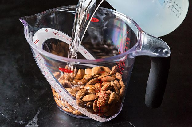 How To Make Your Own Almond Milk  Did you even know you could make creamy, dreamy almond milk at home? Never go back to the box again.