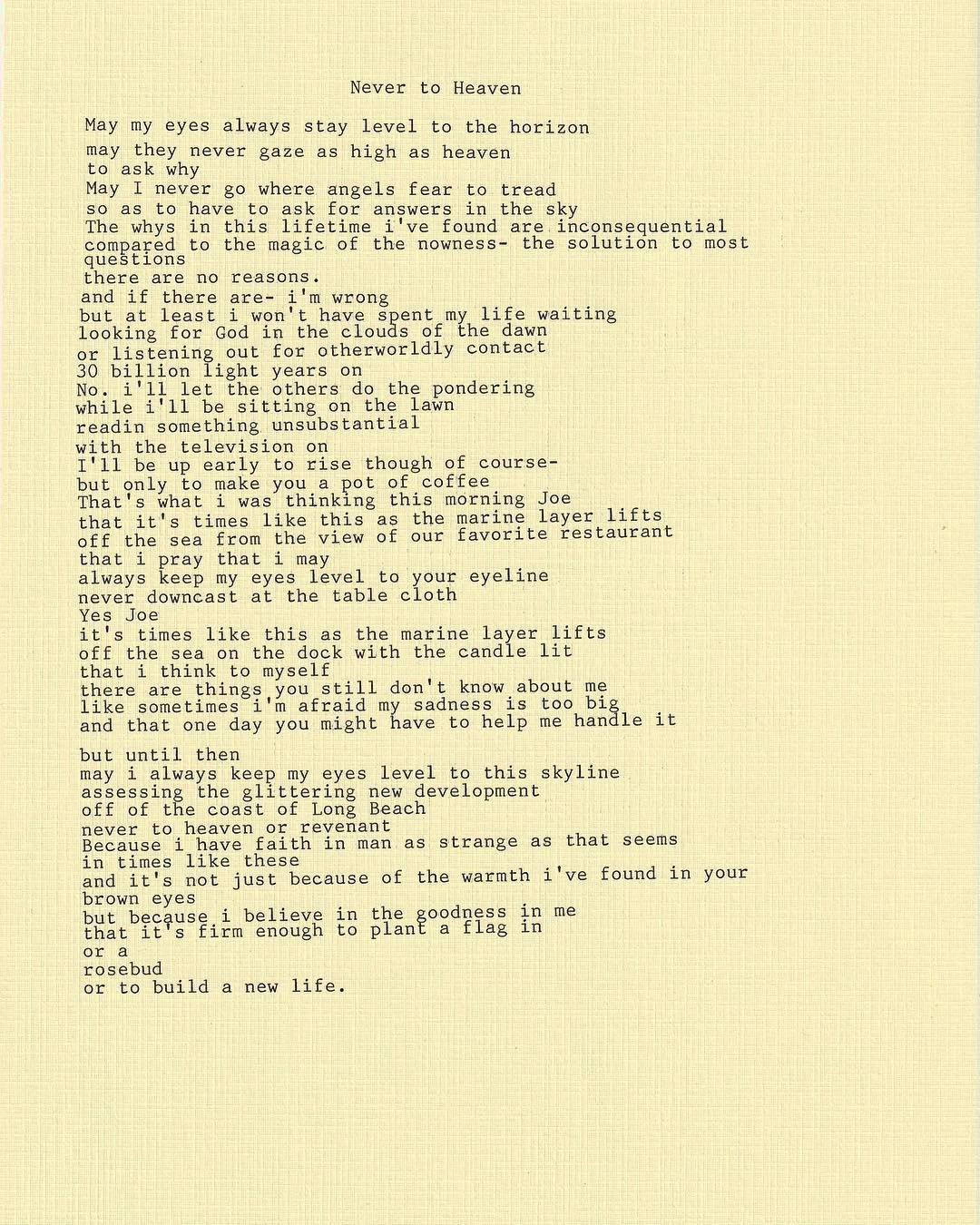 Never To Heaven By Lana Del Rey Pretty Words Lana Del Rey Lana Del Rey Lyrics
