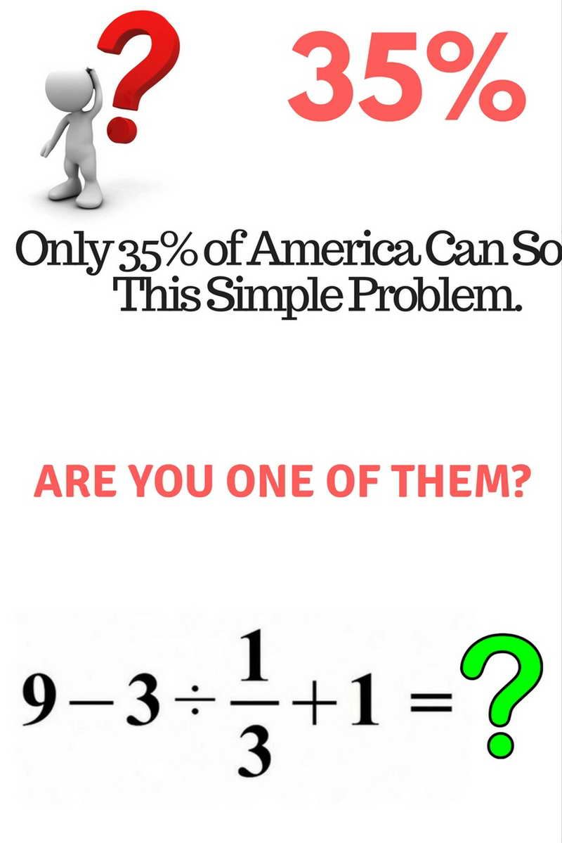 This Basic Math Problem Went Viral Because Most People Can\'t Solve ...