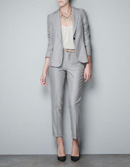 Zara Bayan Pantolon Ceket Takim Modelleri 2013 Zara Gri Bayan Takim Elbise Modelleri Takim Elbise Zara Moda Stilleri