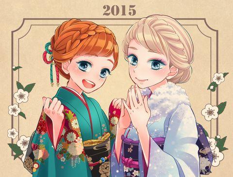 2015 アナ エルサ 鈴原 のイラスト Pixiv ディズニー