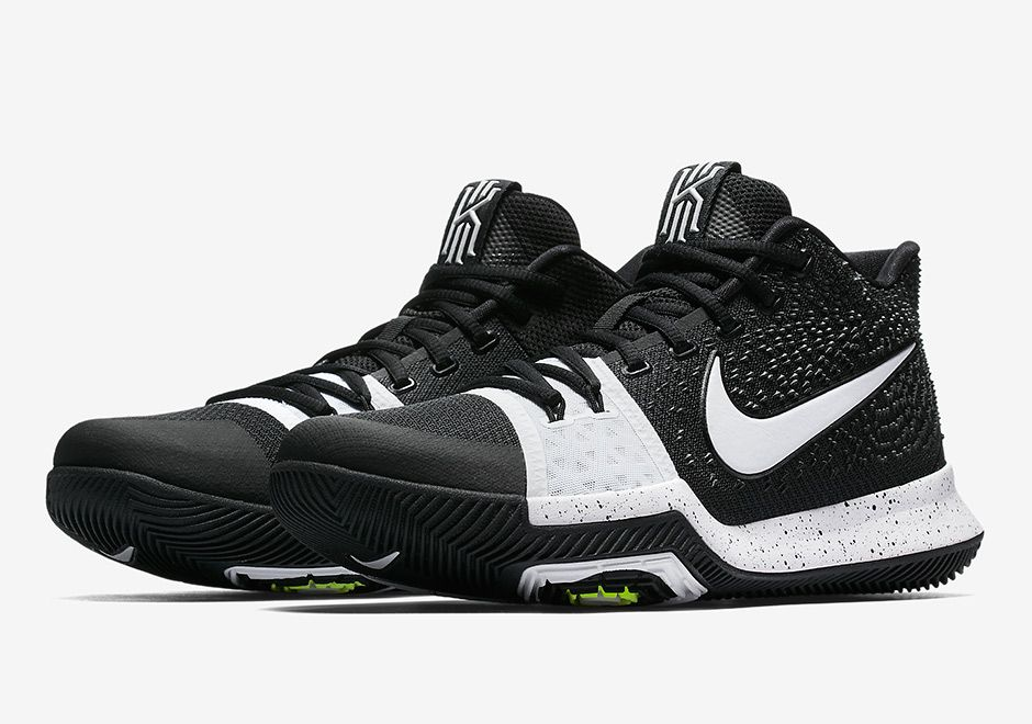 "cheap for discount 74009 4991e Remember the ""Cookies and Cream"" Nike Kyrie 3 we just previewed earlier  this week  It turns out there s a flipped version of the white and black  colorway, ..."